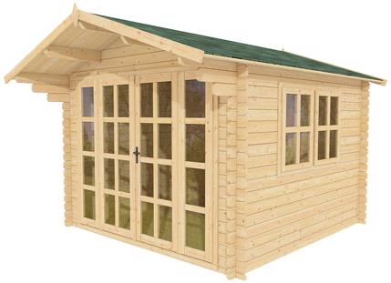 Outdoor wood prefab garden shed kit