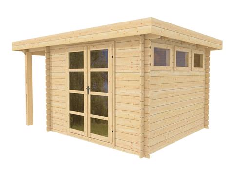 Outdoor wood prefab home office shed