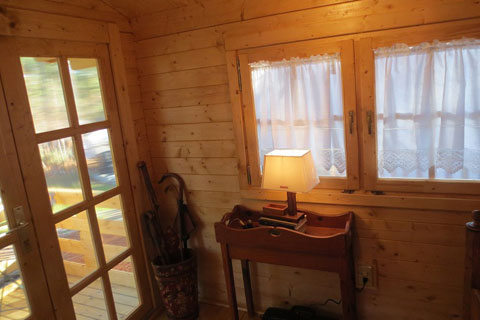 Cozy Finished Shed Interior