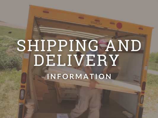 Shed Shipping and Delivery