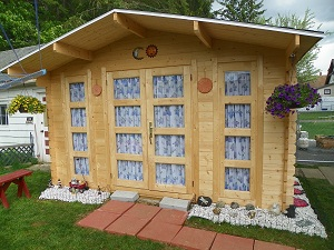 wood shed prefab kit