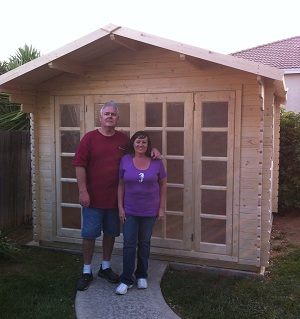 precut wood shed kit